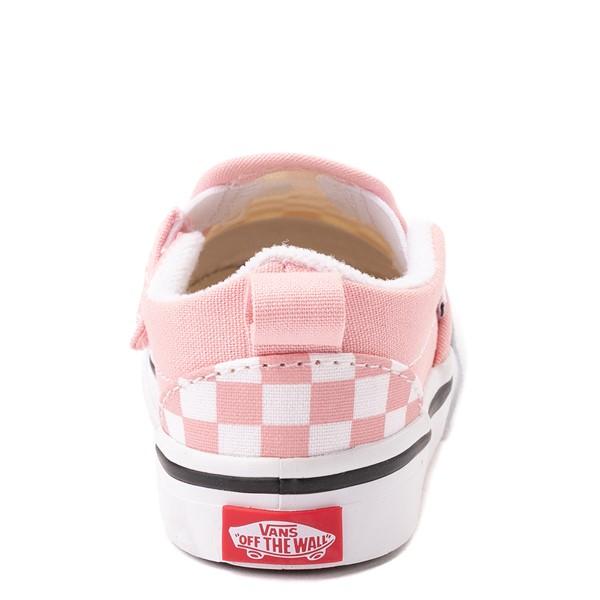 alternate view Vans Slip On V Checkerboard Skate Shoe - Baby / Toddler - Powder PinkALT4