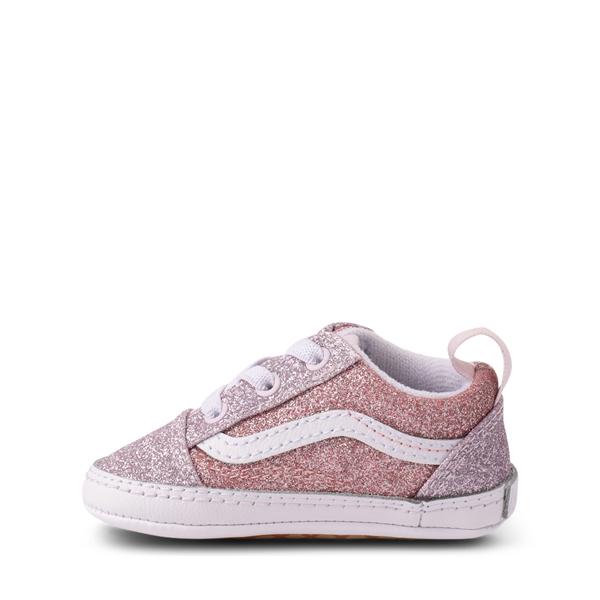 alternate view Vans Old Skool Glitter Skate Shoe - Baby - Orchid Ice / Powder PinkALT1