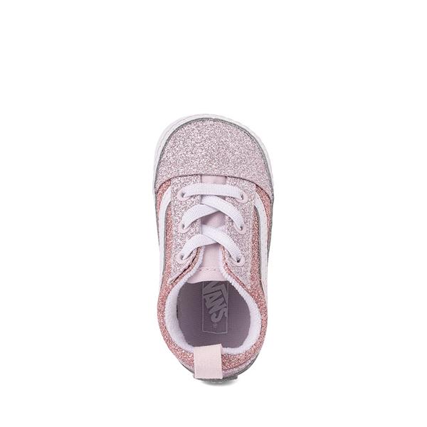 alternate view Vans Old Skool Glitter Skate Shoe - Baby - Orchid Ice / Powder PinkALT2