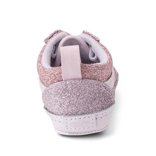 alternate view Vans Old Skool Glitter Skate Shoe - Baby - Orchid Ice / Powder PinkALT4