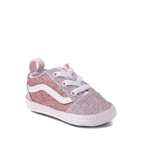 alternate view Vans Old Skool Glitter Skate Shoe - Baby - Orchid Ice / Powder PinkALT5