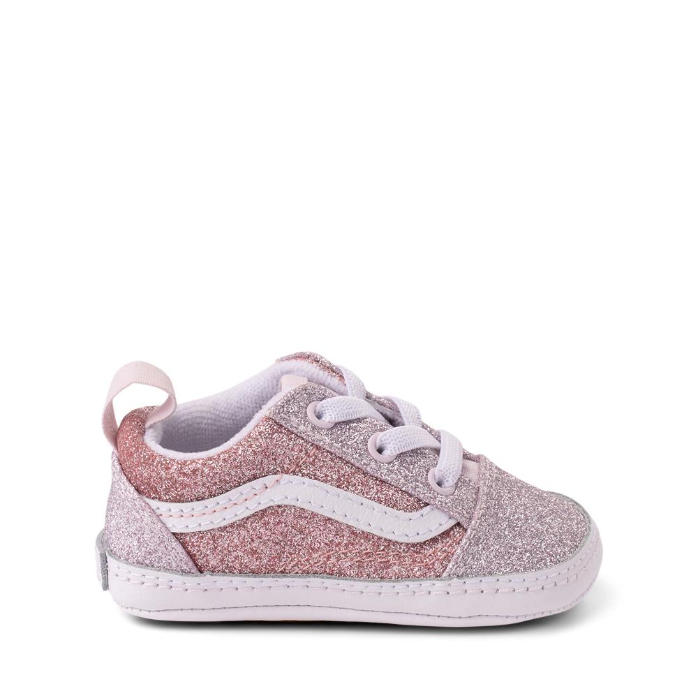 Vans Old Skool Glitter Skate Shoe - Baby - Orchid Ice / Powder Pink
