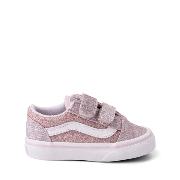 Vans Old Skool V Glitter Skate Shoe - Baby / Toddler - Orchid Ice / Powder Pink
