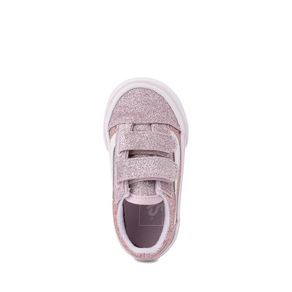 alternate view Vans Old Skool V Glitter Skate Shoe - Baby / Toddler - Orchid Ice / Powder PinkALT2