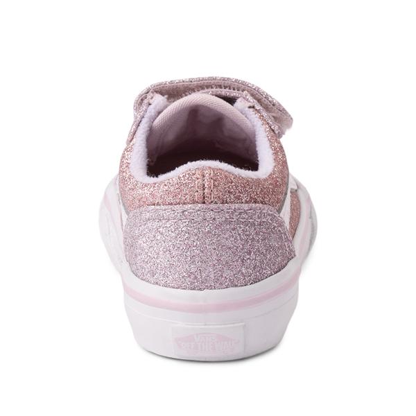 alternate view Vans Old Skool V Glitter Skate Shoe - Baby / Toddler - Orchid Ice / Powder PinkALT4