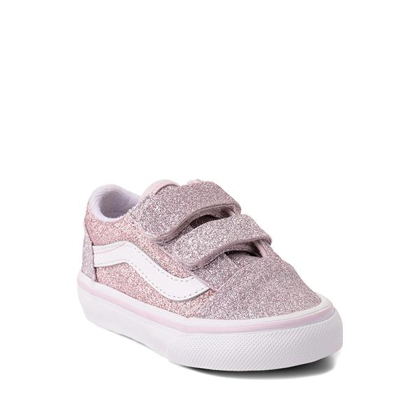 alternate view Vans Old Skool V Glitter Skate Shoe - Baby / Toddler - Orchid Ice / Powder PinkALT5