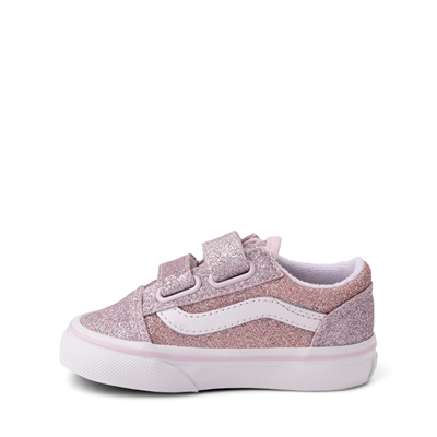 Alternate view of Vans Old Skool V Glitter Skate Shoe - Baby / Toddler - Orchid Ice / Powder Pink