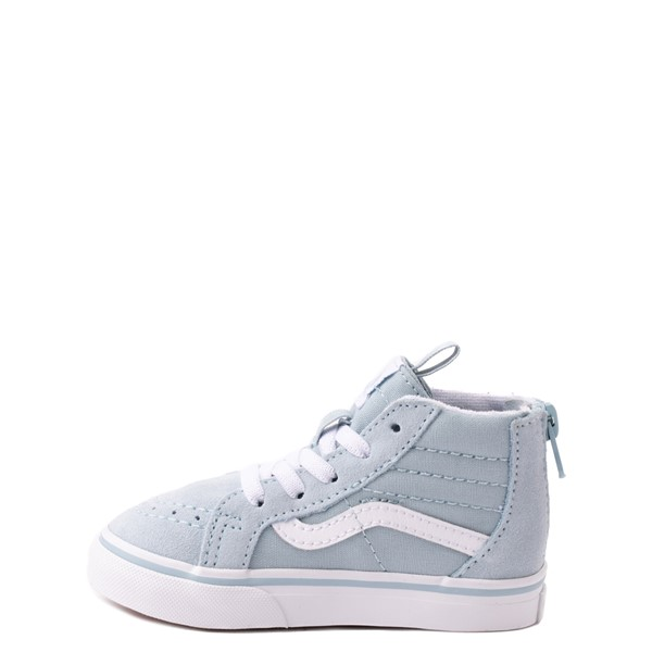alternate view Vans Sk8 Hi Zip Rainbow Skate Shoe - Baby / Toddler - Winter SkyALT1