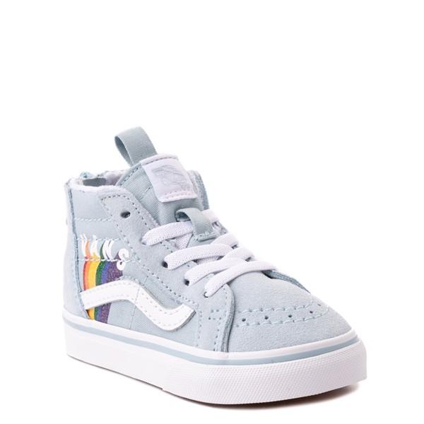 alternate view Vans Sk8 Hi Zip Rainbow Skate Shoe - Baby / Toddler - Winter SkyALT5