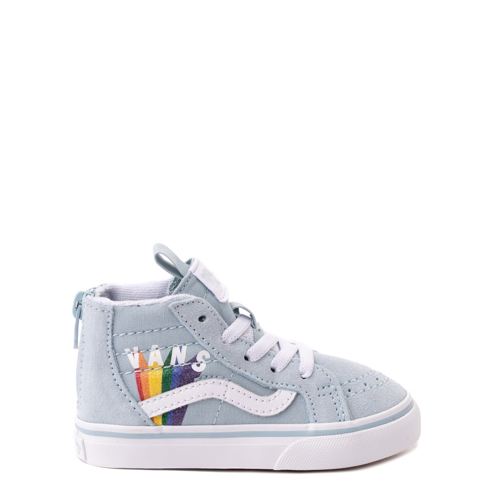 Vans Sk8 Hi Zip Rainbow Skate Shoe - Baby / Toddler - Winter Sky