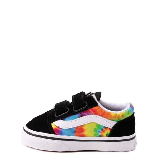 alternate view Vans Old Skool V Skate Shoe - Baby / Toddler - Black / Tie DyeALT1
