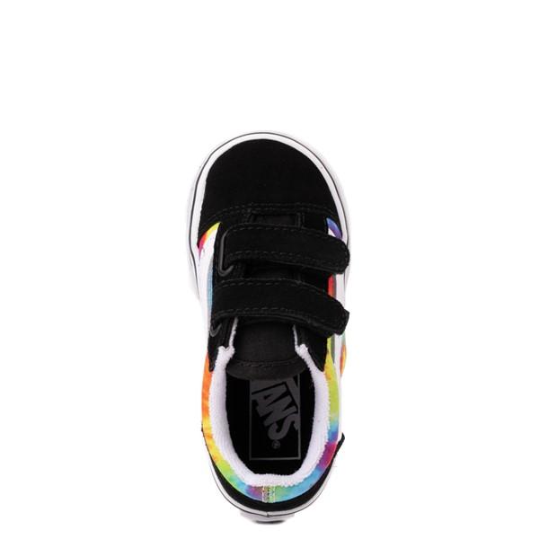 alternate view Vans Old Skool V Skate Shoe - Baby / Toddler - Black / Tie DyeALT2