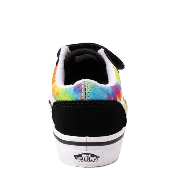 alternate view Vans Old Skool V Skate Shoe - Baby / Toddler - Black / Tie DyeALT4