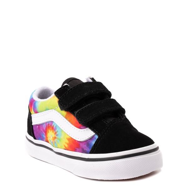 alternate view Vans Old Skool V Skate Shoe - Baby / Toddler - Black / Tie DyeALT5