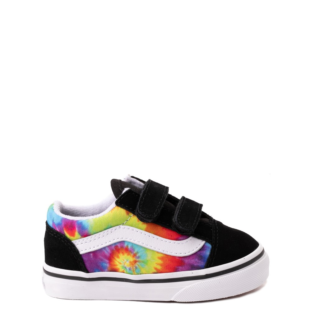 Vans Old Skool V Skate Shoe - Baby / Toddler - Black / Tie Dye