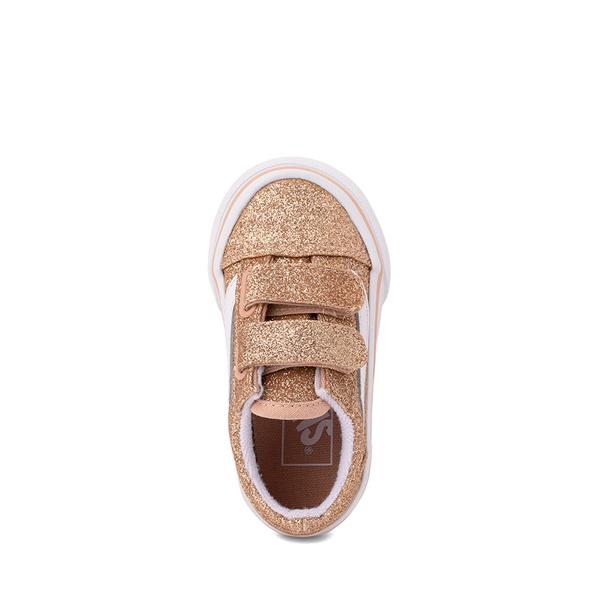 alternate view Vans Old Skool V Glitter Skate Shoe - Baby / Toddler - AmberlightALT2