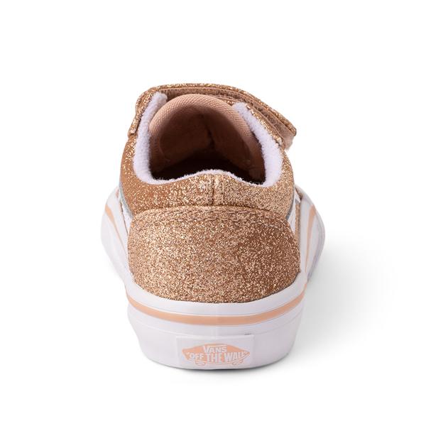 alternate view Vans Old Skool V Glitter Skate Shoe - Baby / Toddler - AmberlightALT4