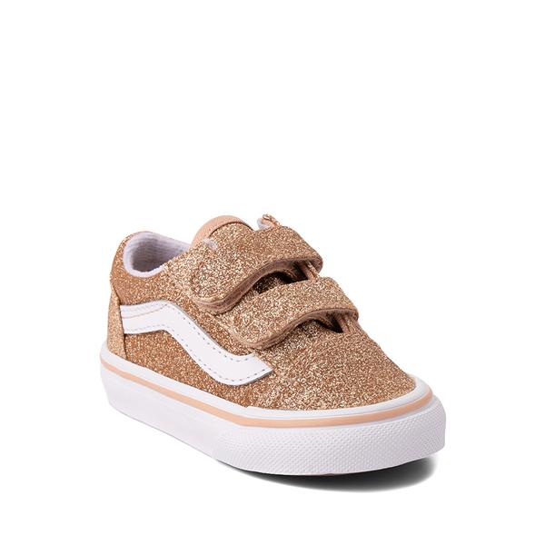 alternate view Vans Old Skool V Glitter Skate Shoe - Baby / Toddler - AmberlightALT5