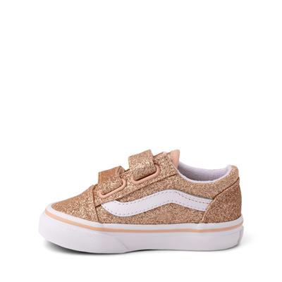 Alternate view of Vans Old Skool V Glitter Skate Shoe - Baby / Toddler - Amberlight