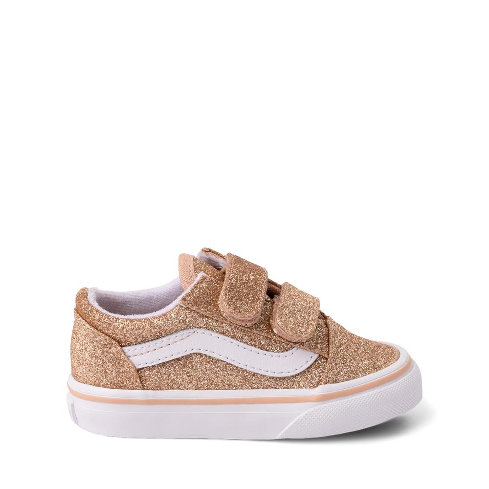 Vans Old Skool V Glitter Skate Shoe - Baby / Toddler - Amberlight