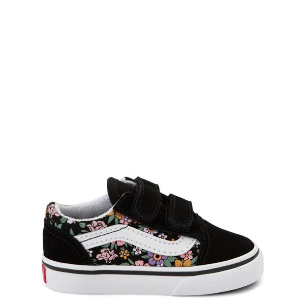 Vans Old Skool V Fun Floral Skate Shoe - Baby / Toddler - Black