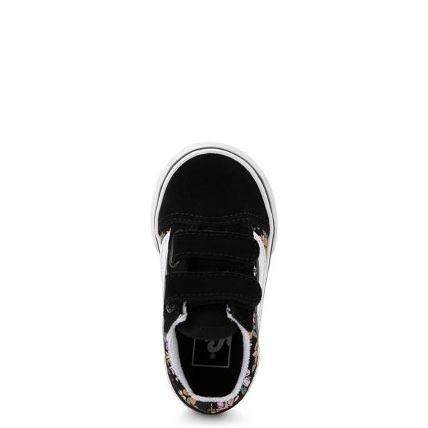 alternate view Vans Old Skool V Fun Floral Skate Shoe - Baby / Toddler - BlackALT2