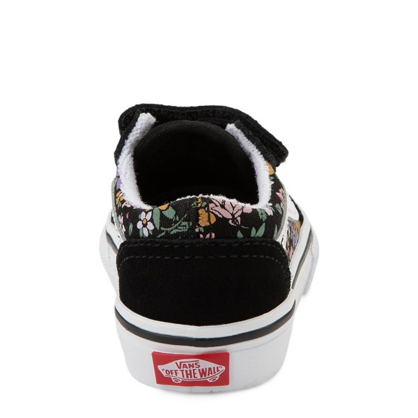 alternate view Vans Old Skool V Fun Floral Skate Shoe - Baby / Toddler - BlackALT4