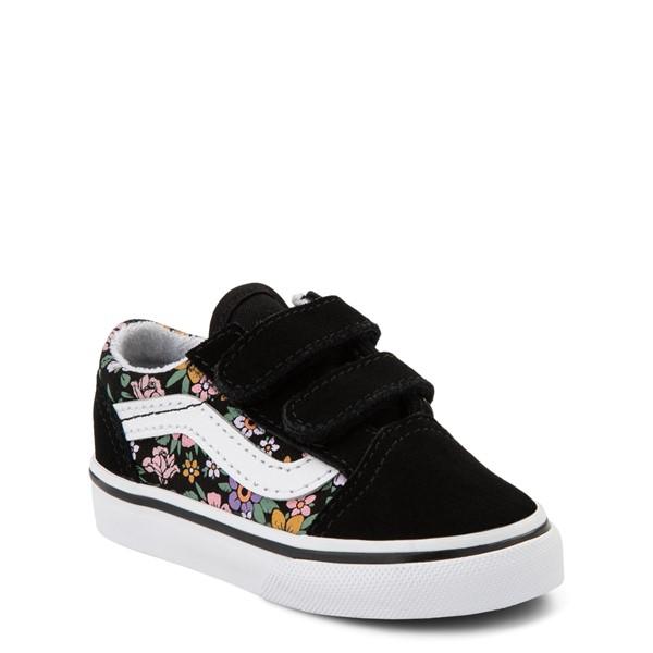 alternate view Vans Old Skool V Fun Floral Skate Shoe - Baby / Toddler - BlackALT5