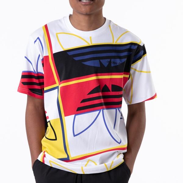 alternate view Mens adidas Originals Logo Play Tee - White / MulticolorALT1B