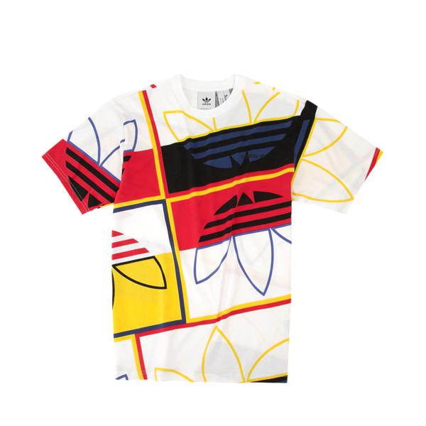 alternate view Mens adidas Originals Logo Play Tee - White / MulticolorALT2