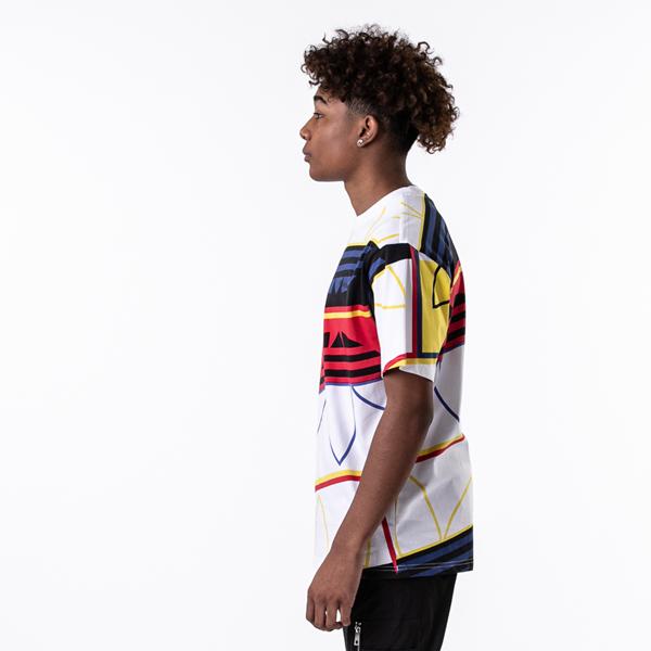 alternate view Mens adidas Originals Logo Play Tee - White / MulticolorALT3