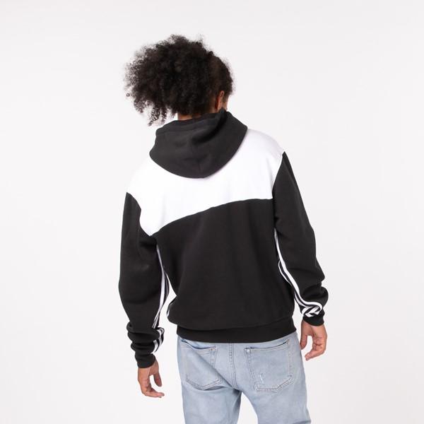 alternate view Mens adidas Originals Split Hoodie - Black / WhiteALT1B