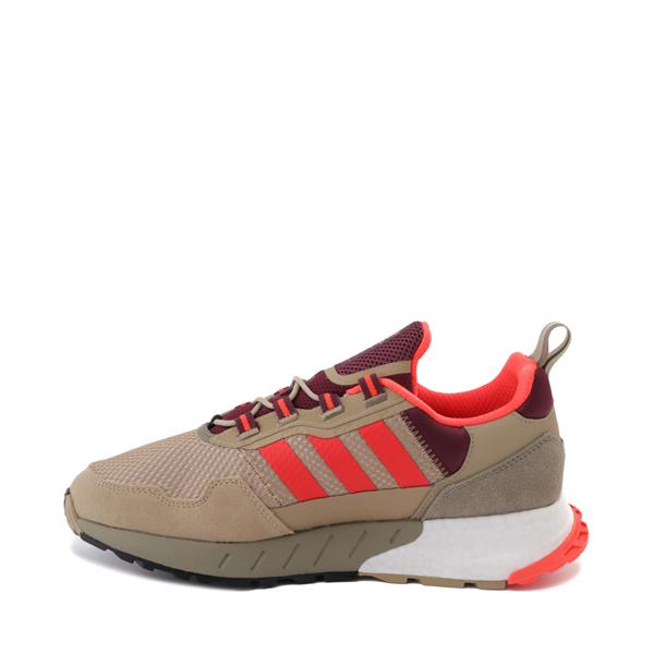 alternate view Mens adidas ZX 1K Boost Athletic Shoe - Beige Tone / Solar Red / Victory CrimsonALT1B