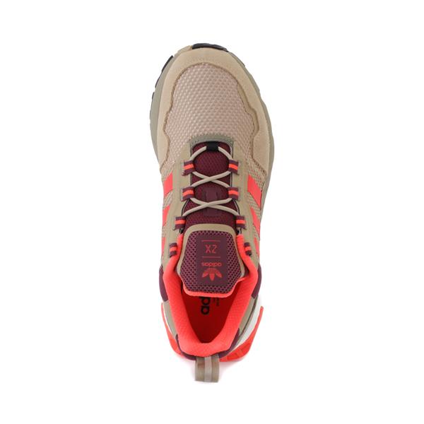 alternate view Mens adidas ZX 1K Boost Athletic Shoe - Beige Tone / Solar Red / Victory CrimsonALT2