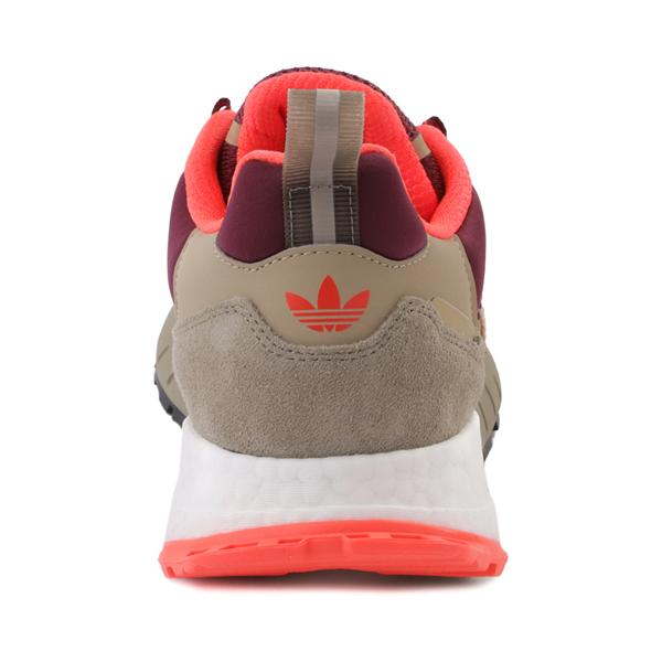 alternate view Mens adidas ZX 1K Boost Athletic Shoe - Beige Tone / Solar Red / Victory CrimsonALT4