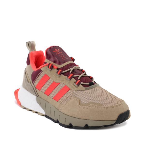 alternate view Mens adidas ZX 1K Boost Athletic Shoe - Beige Tone / Solar Red / Victory CrimsonALT5