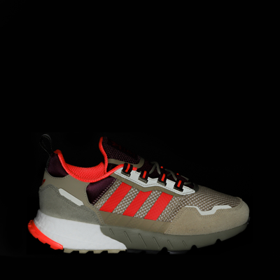 Alternate view of Mens adidas ZX 1K Boost Athletic Shoe - Beige Tone / Solar Red / Victory Crimson