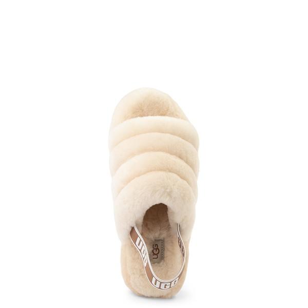 alternate view Womens UGG® Fluff Yeah Slide Sandal - NaturalALT2