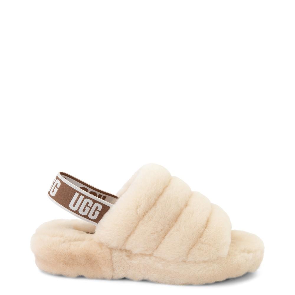Womens UGG® Fluff Yeah Slide Sandal - Natural