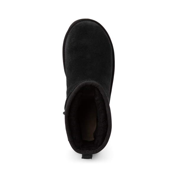 alternate view Womens UGG® Classic Mini Side Logo Boot - BlackALT2