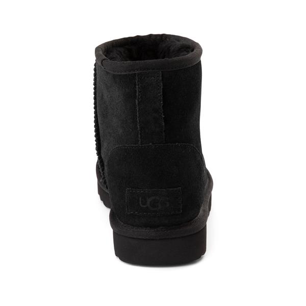 alternate view Womens UGG® Classic Mini Side Logo Boot - BlackALT4