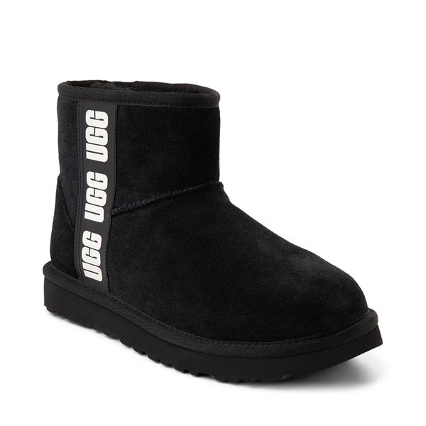 alternate view Womens UGG® Classic Mini Side Logo Boot - BlackALT5