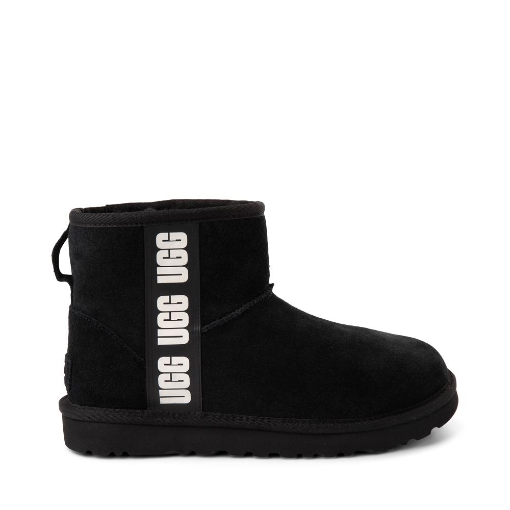 Womens UGG® Classic Mini Side Logo Boot - Black
