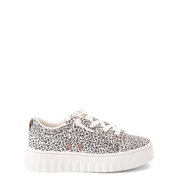 Roxy Sheilahh Platform Casual Shoe - Little Kid / Big Kid - White Leopard