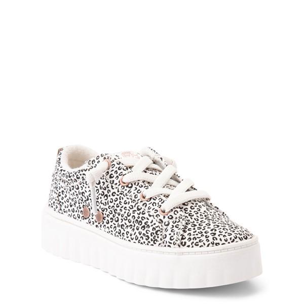 alternate view Roxy Sheilahh Platform Casual Shoe - Little Kid / Big Kid - White LeopardALT5