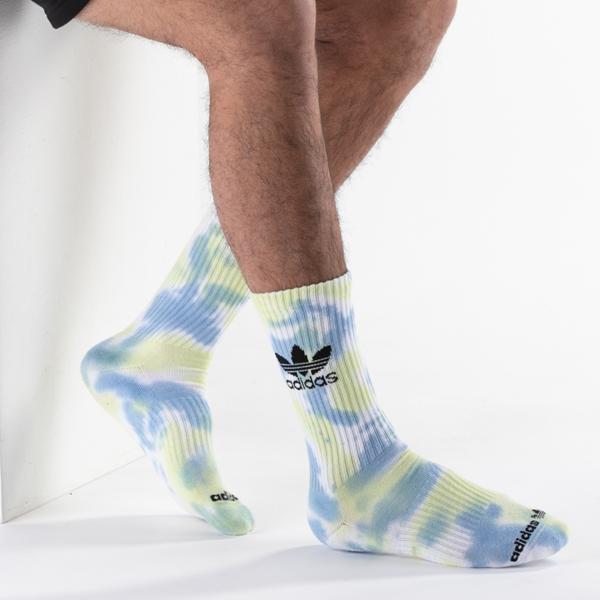 alternate view Mens adidas Color Wash Crew Socks 3 Pack - MulticolorALT1