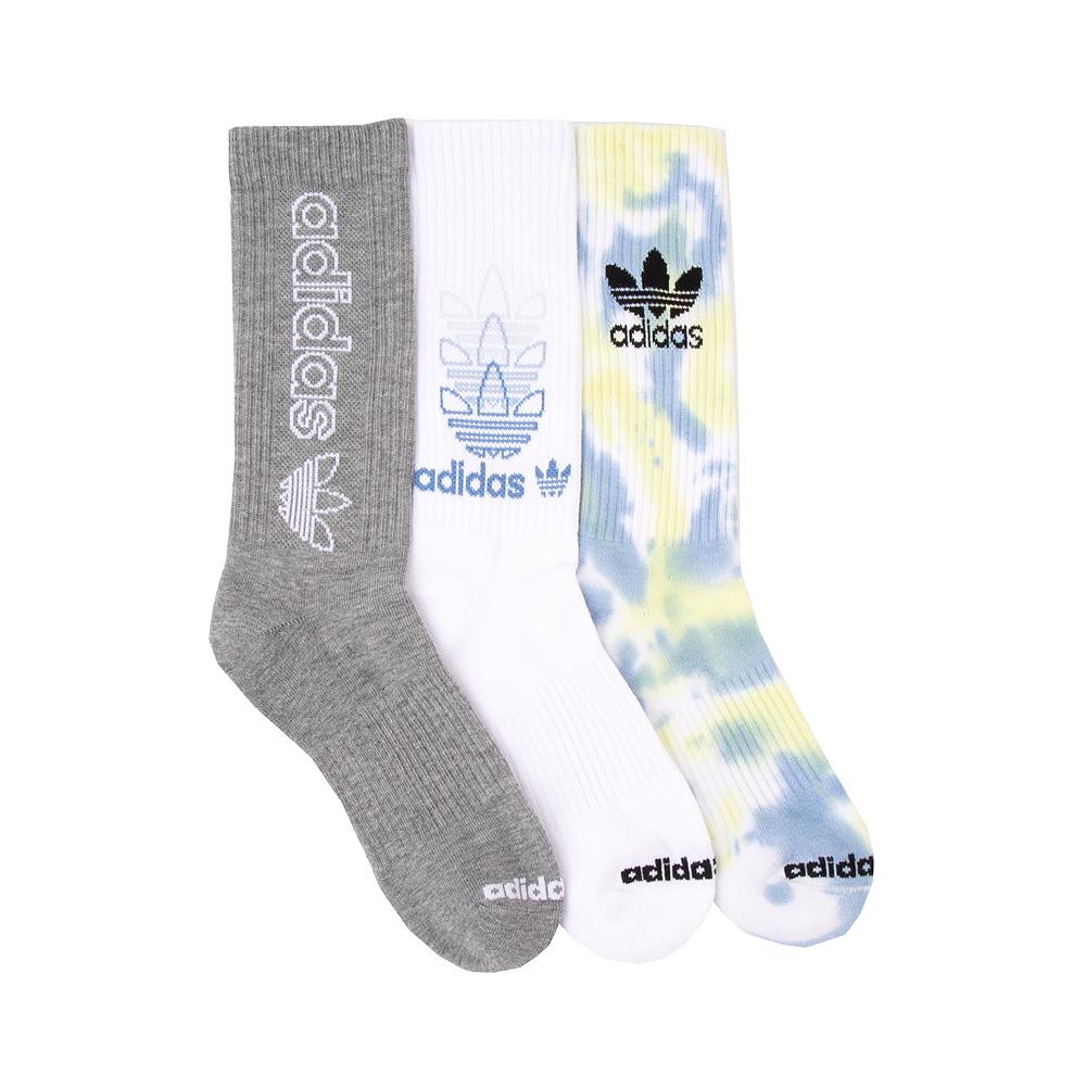 Mens adidas Color Wash Crew Socks 3 Pack - Multicolor