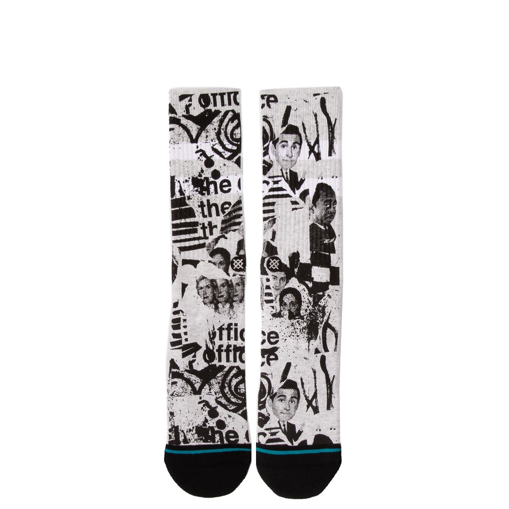 Mens Stance x The Office Supplies Crew Socks - White