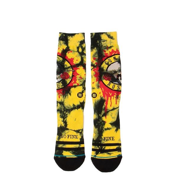 Mens Stance Guns N' Roses So Fine Crew Socks - Black / Yellow