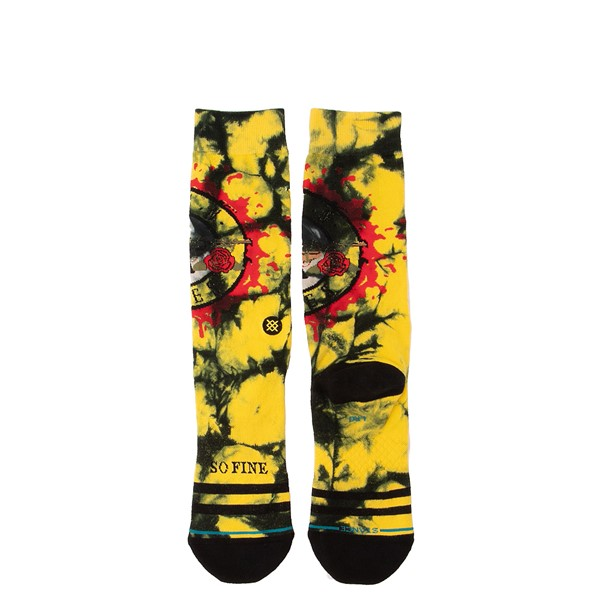 alternate view Mens Stance Guns N' Roses So Fine Crew Socks - Black / YellowALT1